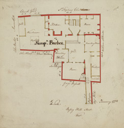 [Plan of property on Basinghall Street] 115K